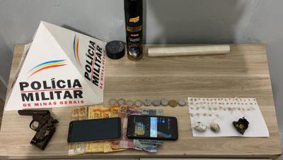 Jovem é preso com drogas e arma de fogo em Araxá