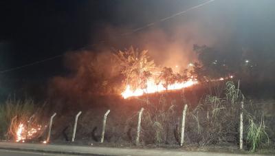 Incêndio é registrado no Parque do Cristo em Araxá